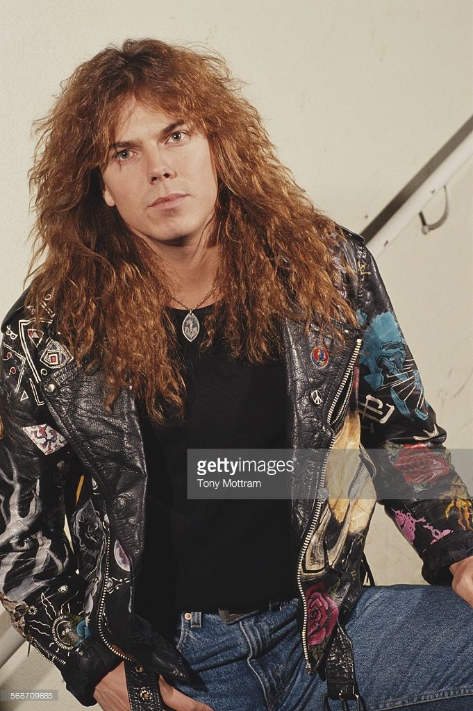 Singer Joey Tempest of Swedish hard rock band Europe, circa 1987.