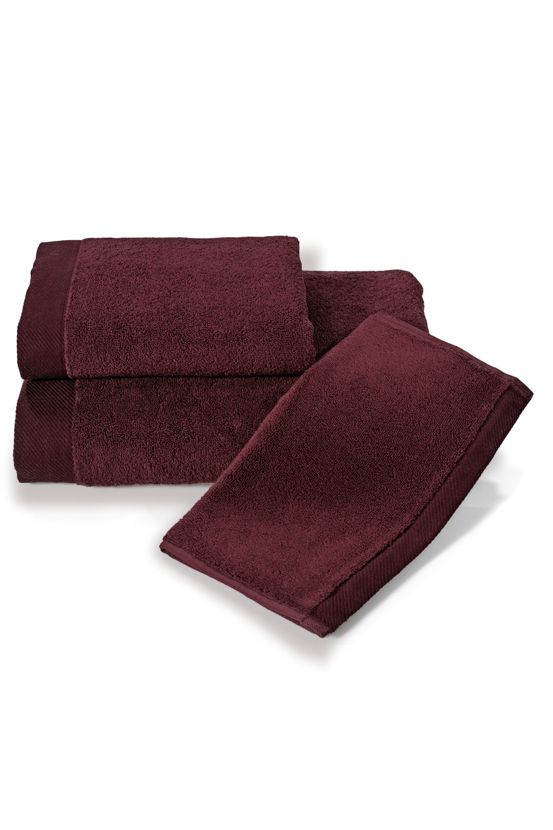Szybkoschnący bordowy ręcznik MICRO COTTON z mikrowłókna (mikrobawełna)