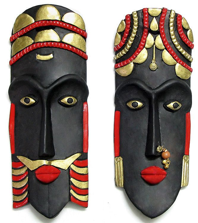 King and Queen Mask - Wall Hanging