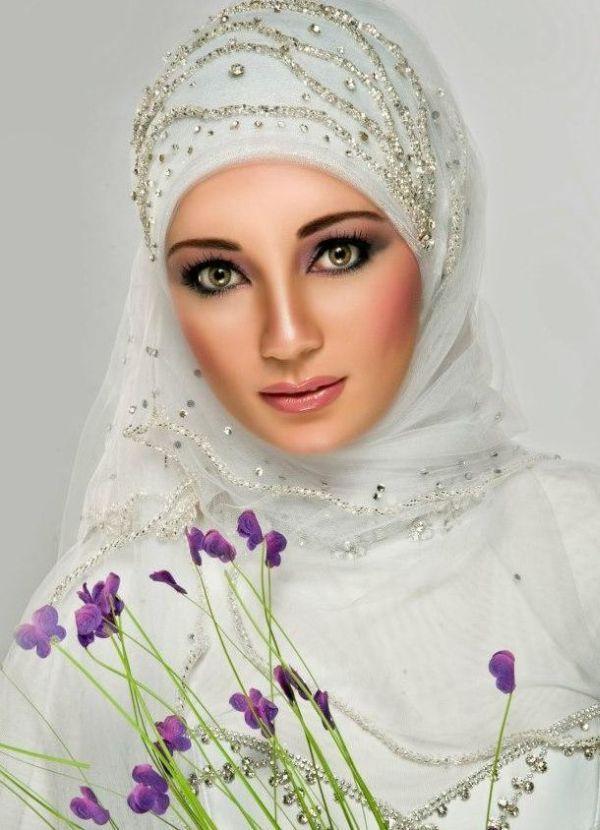 best Hijab Wedding Veils 2014