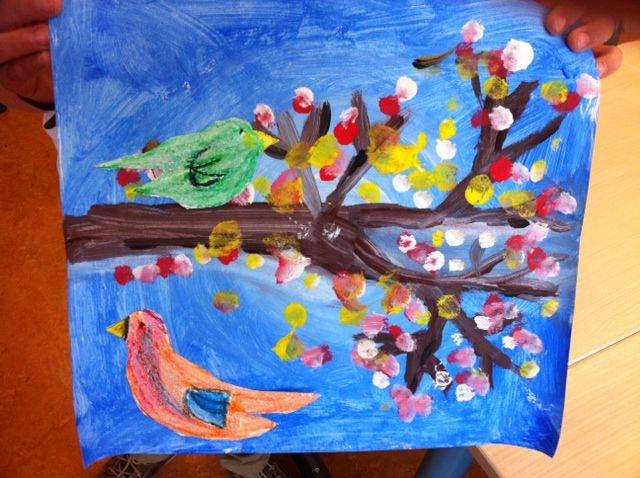 Bloesem schilderen groep 3
