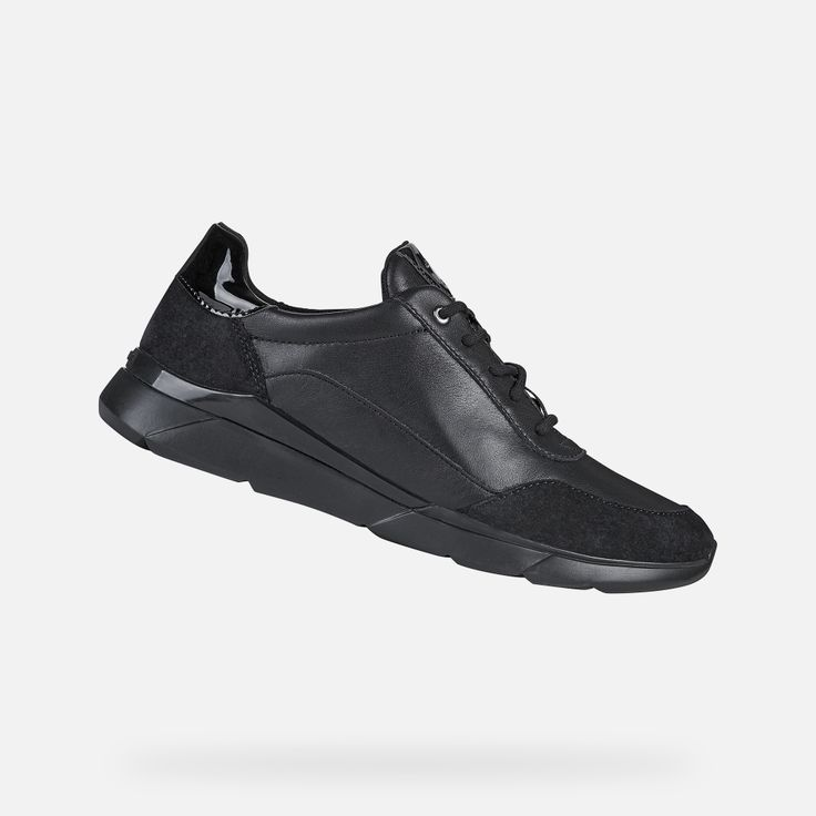 Geox Hiver Woman Black Sneakers Geox Online Store In 2020 Running Shoes Design Black Sneakers Slip On Boots