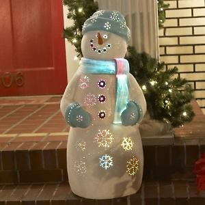 Fiber Optic 32 Quot Resin Snowman At Hsn Com Christmas