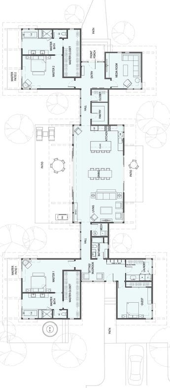 3,550square feet 1 Story 3Bedroom 3 Bathroom Bigger then we need but like the private wings