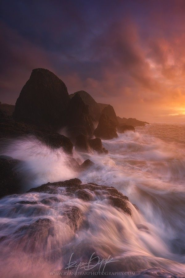 ~~At Atherton • stormy weather and crashing waves, State Park, Newport, Oregon by Ryan Dyar~~