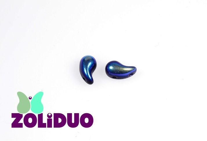 Unikátní dvoudírkové korálky ZOLIDUO  pravá varianta, velikost 5x8 mm, průměr dírky 0,75 mm, 20 ks v balení, barva černá s AB 28701 #zoliduo #DIY #beads #czech #chzechbeads #beading #new #twohole