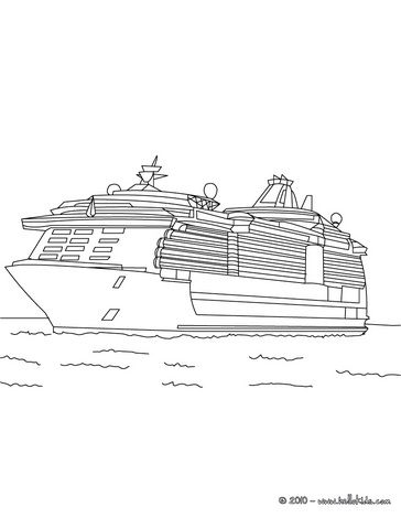 66 best ships color or paint pages images on pinterest for Coloring pages cruise ship