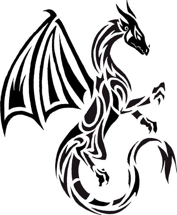 Dragon tattoo by Bleckhart.deviantart.com on @deviantART