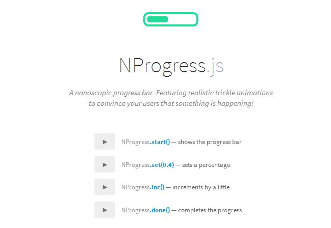 NProgress.js – Slim Progress Bar Inpired by YouTube