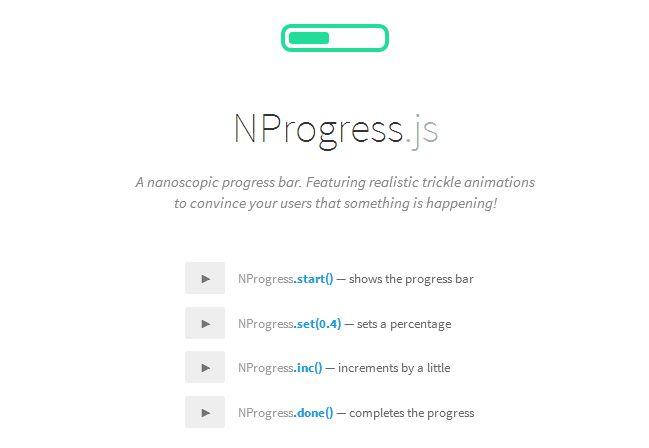 NProgress.js – Slim Progress Bar Inpired by YouTube