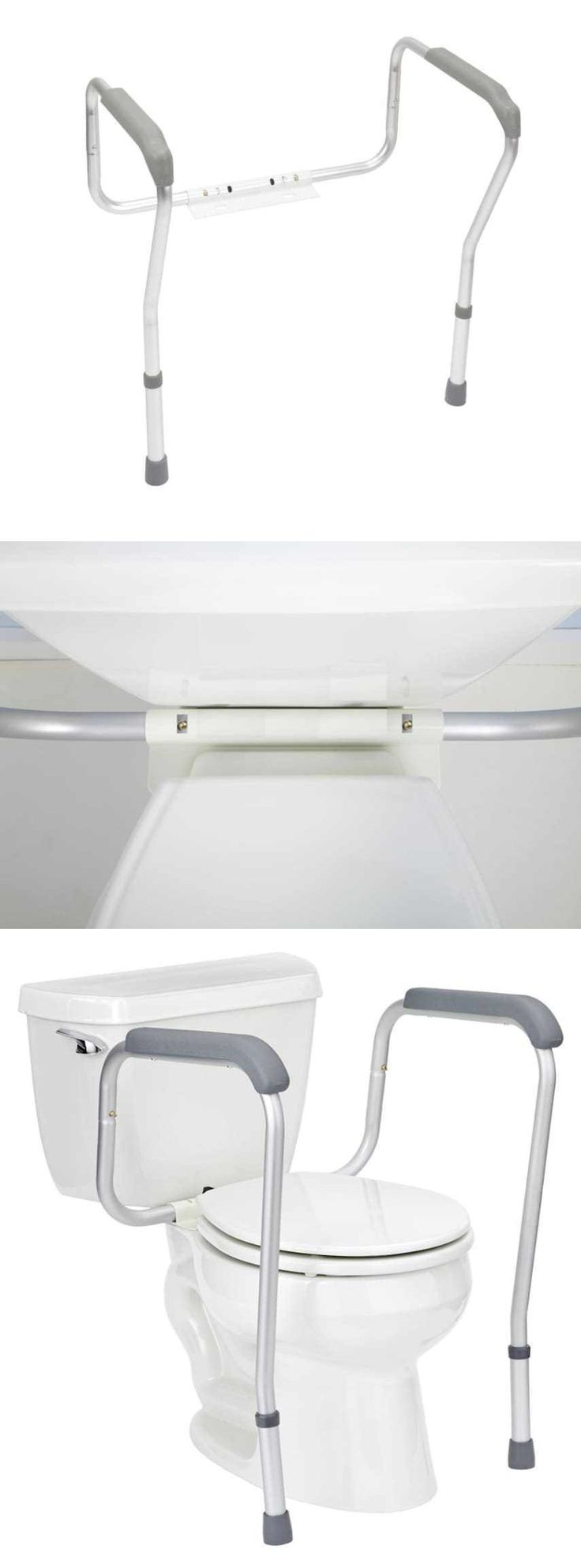 Other Accessibility Fixtures: Grab Bars Adjustable Toilet Safety Rail Seat Handicap Assist Elderly Bathroom -> BUY IT NOW ONLY: $36.95 on eBay!