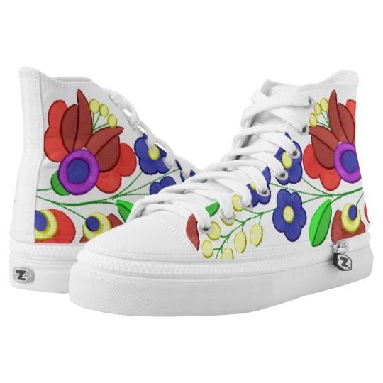 Hungarian folk motifs shoe printed shoes