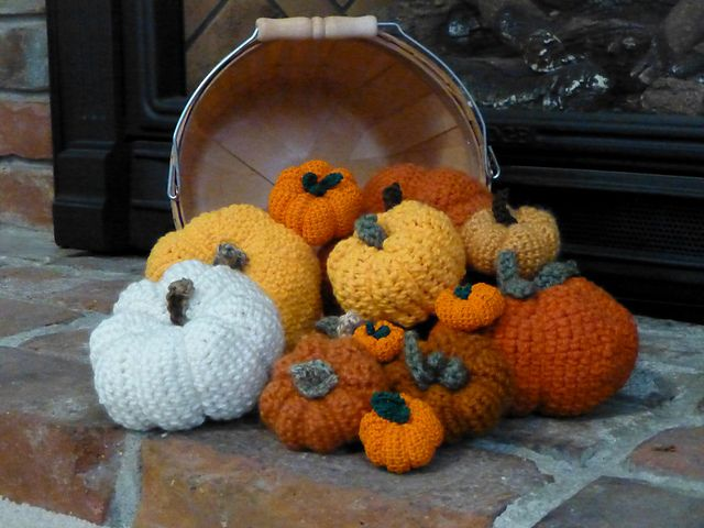 Ravelry: Crocheted Pumpkin Pincushion pattern by Armina Parnagian