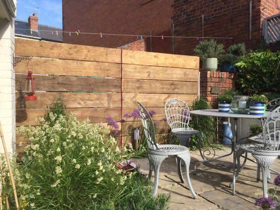 Beautiful scaffolding board fence by tcindustrialvintage on Etsy