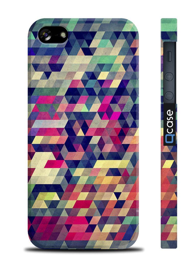 Чехол QCase для iPhone 5 | 5S Puzzle (пластиковый чехол, защитная пленка, заставка) купить в интернет-магазине BeautyApple.ru.