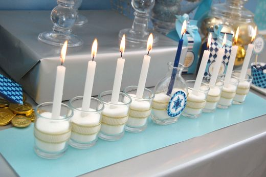 Cute way to make your own menorah