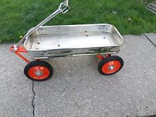 vintage radio flyer wagon custom CHROME