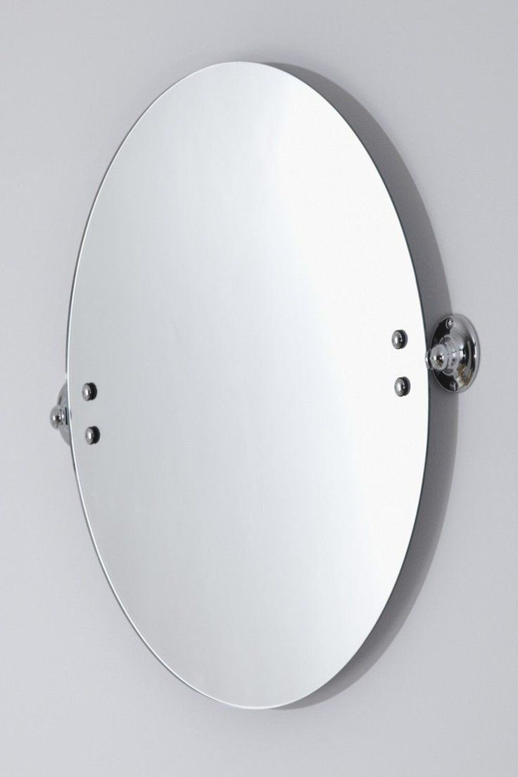18 00 Gbp Modern Round Wall Mounted Swivel Bathroom Mirror Accessory With Chrome Brackets