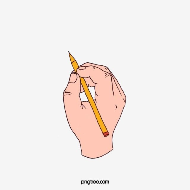 Hand Holding A Pencil Pencil Pen Hand Png Transparent Clipart Image And Psd File For Free Download Pencil Png How To Draw Hands Writing Clipart