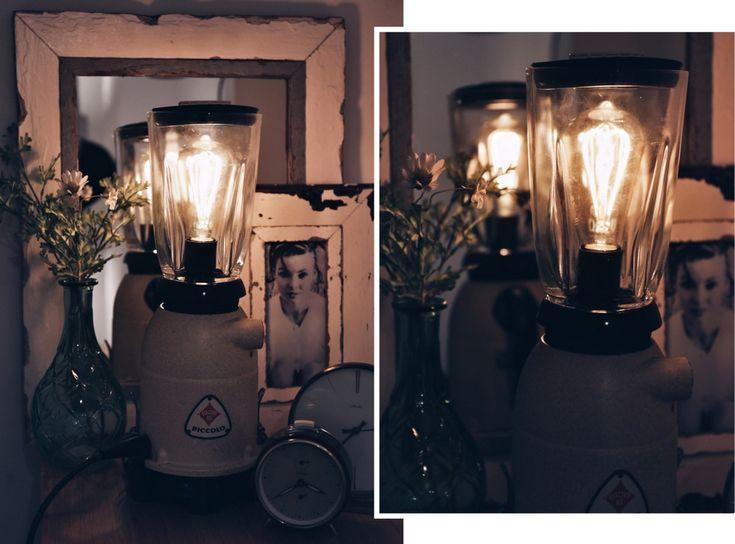 Fabulous Mixer Lampe DIY Mixer Lampe selbstgebastelte Lampe DIY aus alten Haushaltsgegenst nden