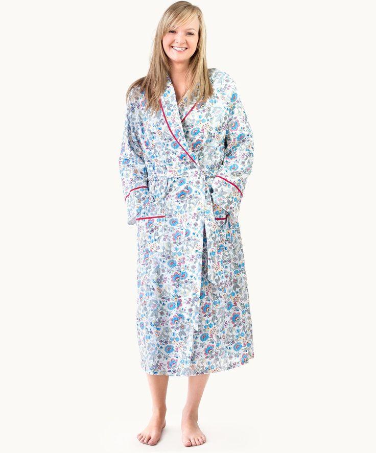 Tuscany Cotton Kimono, flannel lining, fair trade