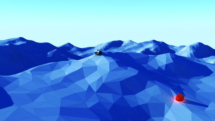 Low-Poly Map of mountains