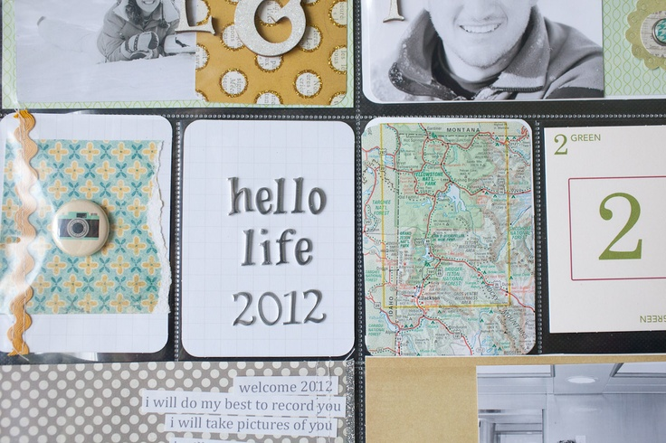 project life : cut up a map from our travels to stick in a pocket