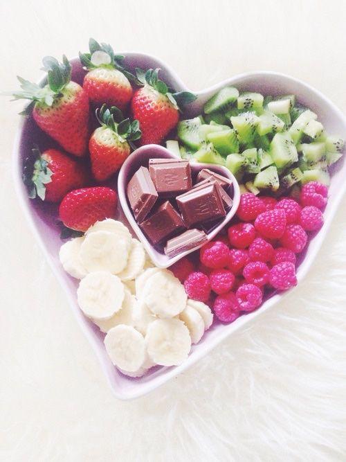 fruit + chocolate love