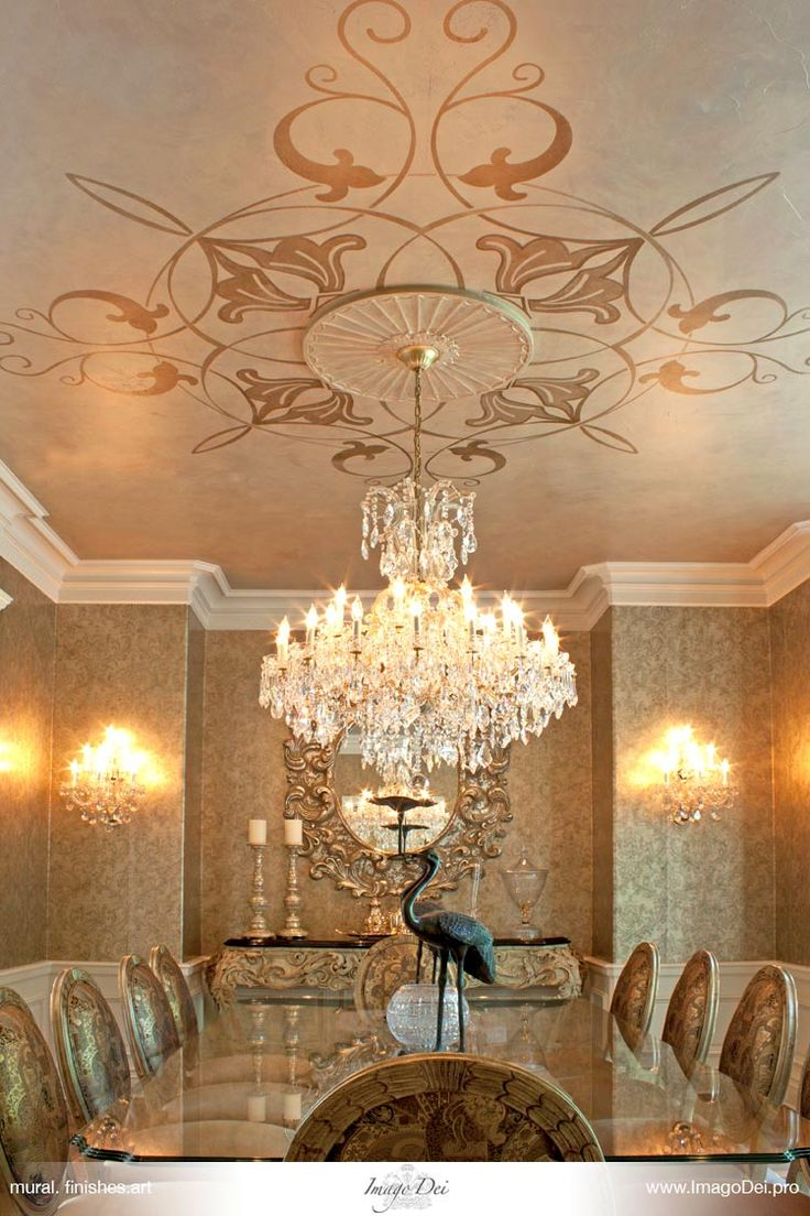 Ceilings Stencil Murals - Imago Dei | Murals. Faux Finishes. Fine Art. Venetian Plaster. Glazing. Decorative Painting.