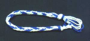 Fingerloop braiding, 5 loop;  links to other types of braiding