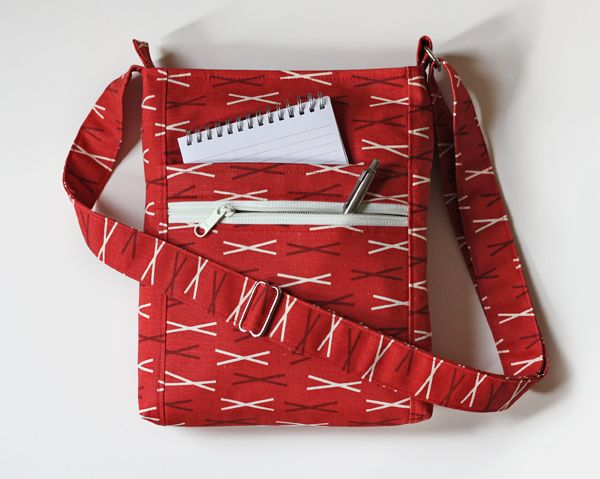 Two Zip Hipster bag.  Pattern by Erin Erickson of Dog Under My Desk.  PDF pattern.  size is 9 x 11,. just right !!