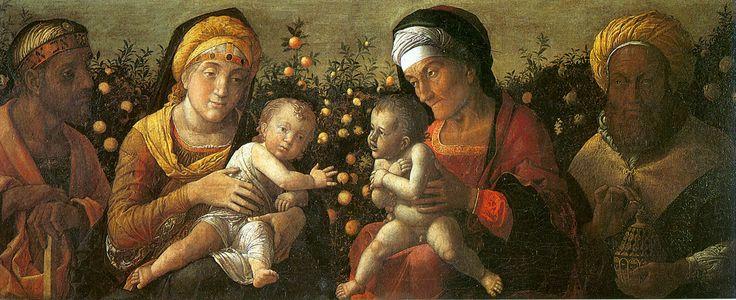 88. 1504-06 circa - Sacra Famiglia e famiglia del Battista - Mantova, Basilica di Sant'Andrea, Cappella del Mantegna