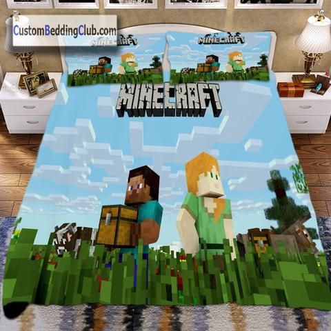 Minecraft Blanket, Quilt Cover, Bed Sheets & Pillows https://custombeddingclub.com/collections/gaming-bed-set-gaming-merchandise/products/minecraft-blanket-quilt-cover-bed-sheets-pillows  #minecraft #bedding #bed #set #pillowcase #pillow #bedroom #ideas #homedecor #gaming #blanket #duvetcover #duvet #merchandise #giftideas #gamer