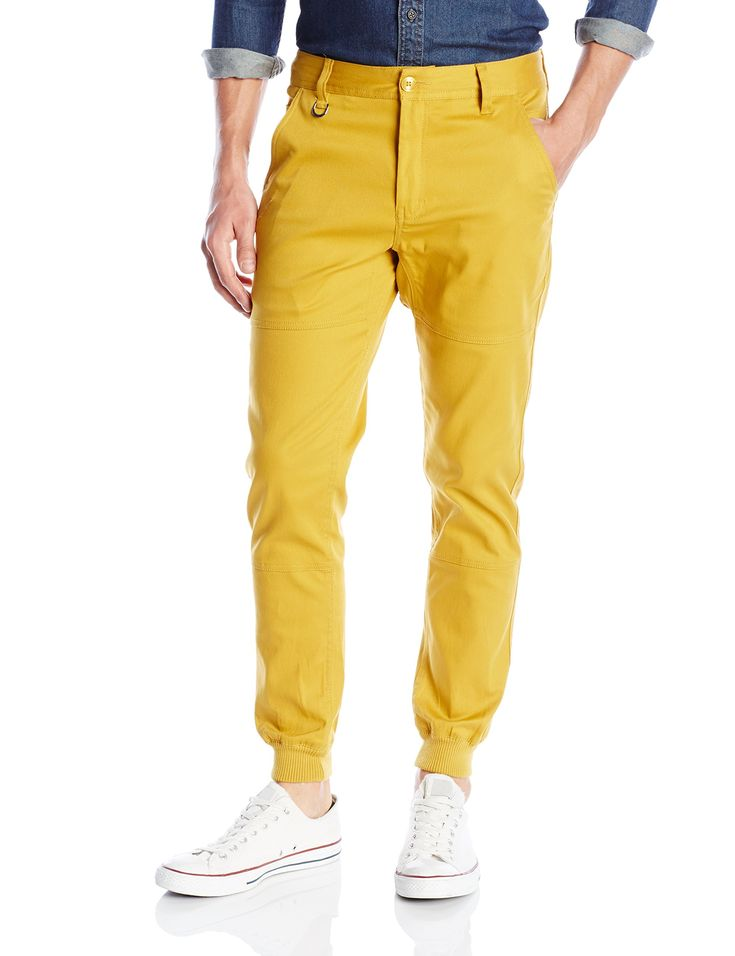 PUBLISH BRAND INC. Men's Legacy Stretch Jogger Pant with Water Resistant Coat, Mustard, 30