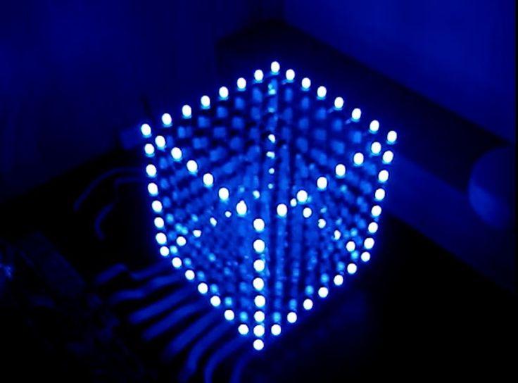 cubo de led 8x8x8 passo a passo aplica arduino pinterest eletronicos e projetos. Black Bedroom Furniture Sets. Home Design Ideas