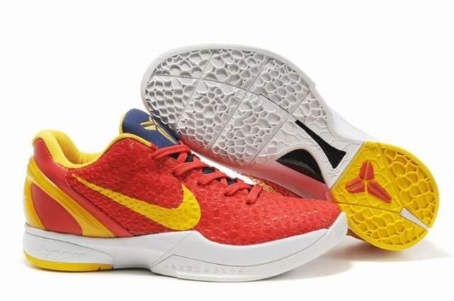 Nike Zoom Kobe 6 Red Yellow Navy White