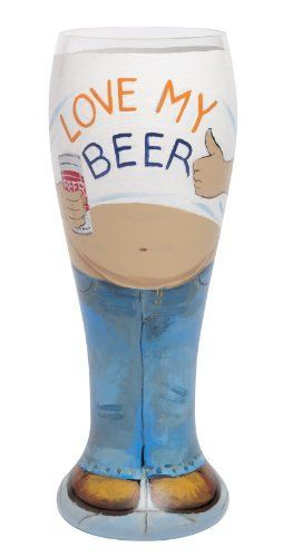 Lolita Hand Painted Pilsner Glass, Beer Belly #WhimsicalUmbrella #Glasst #Gift whimsicalumbrella.com