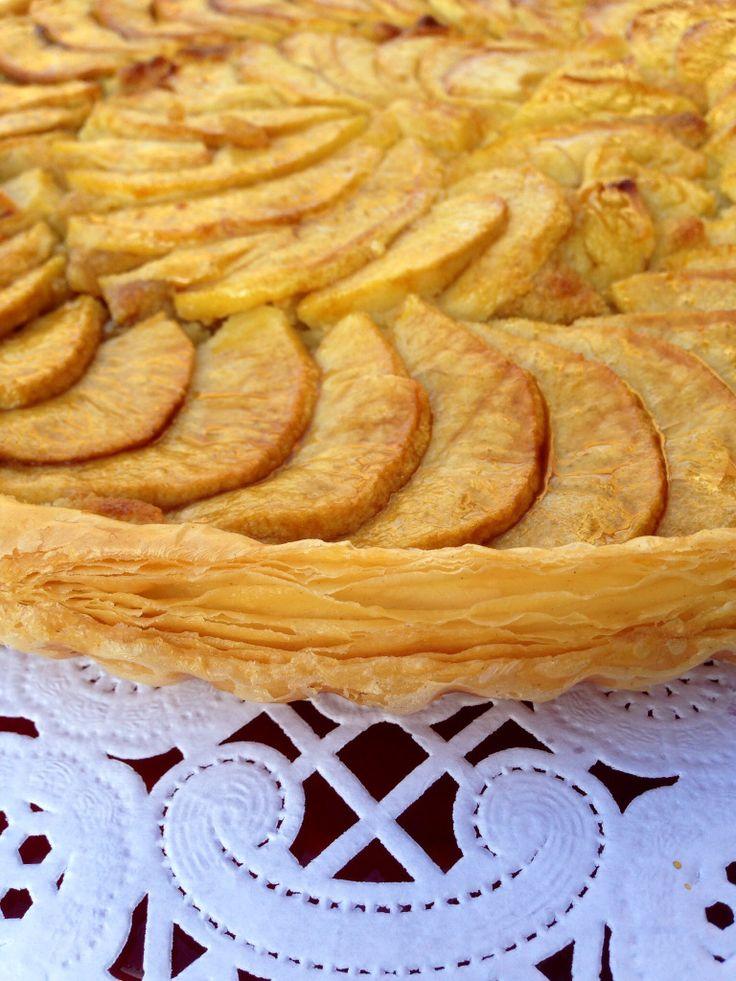 tarta de manzana con crema de almendra