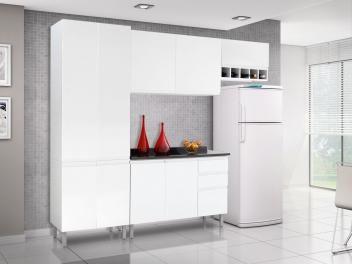 Cozinha Compacta Itatiaia Stilo com Balcão - 9 Portas 3 Gavetas Aço laminado