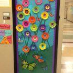 preschool butterfly door decoration
