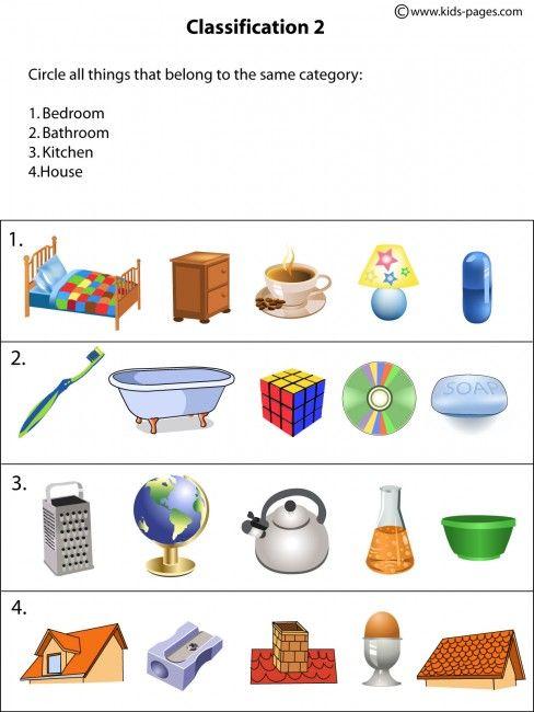 (2015-01) Hvad hører til hhv. soveværelset, badeværelset, køkkenet, huset?