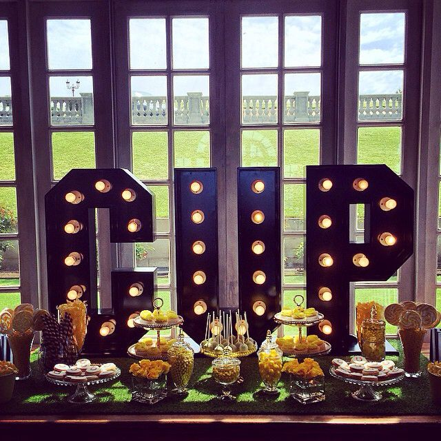 CUP  This window at @campbellpointhouse is our favourite place in the whole wide world to showcase a #dessertbar - thanks for having us again #campbellpointhouse and enjoy your #melbournecup day festivities!  #dessert #dessertbuffet #candy #candybar #candybuffet #lights #lightupletters #letterlights #letterlight #eventhire #eventstyling #yellow #melbcupcarnival As always #cupcakes #cakepops and #cookies by @cupcakeoccasion  #thethreepiecesuit
