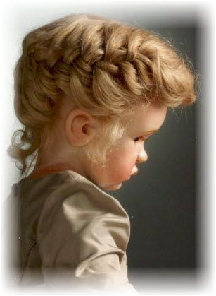 Her hair style is so beautiful; What a lovely doll for that special little girl!@ In one's life!@ for sure.