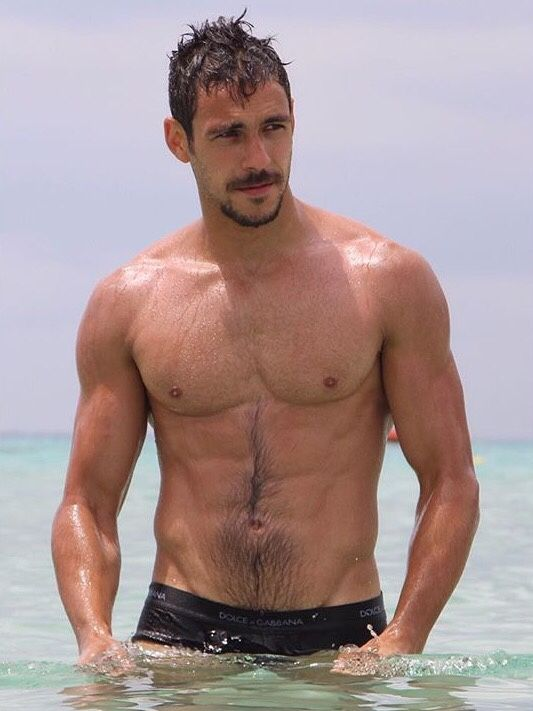 Hairy chest actor of gay sexy