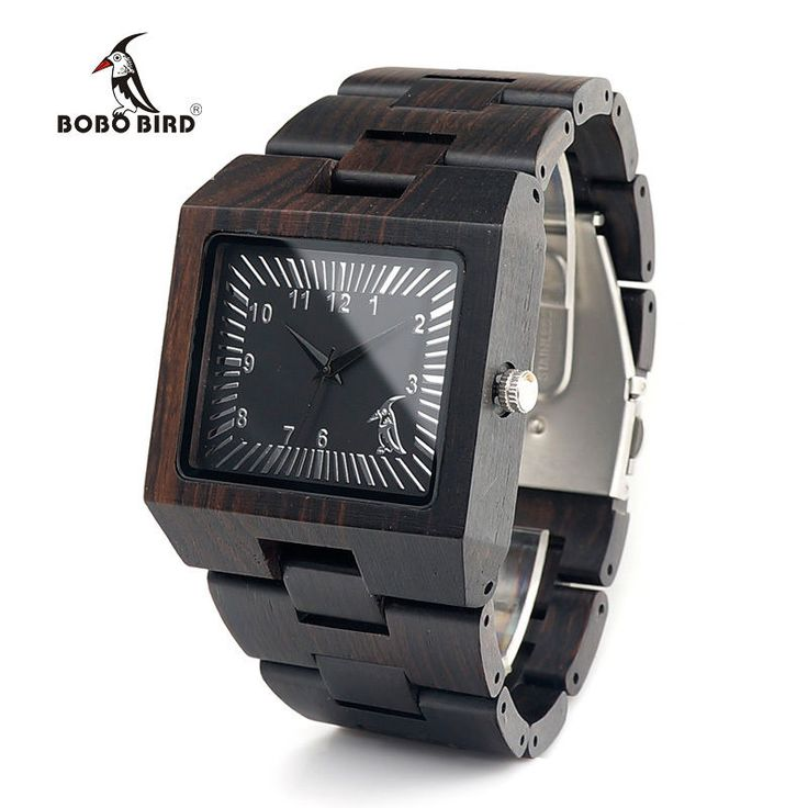 BOBO BIRD L23 Ebony Wooden Mens Watches Brand Design Square Wood Free Shipping | Jewelry & Watches, Watches, Parts & Accessories, Wristwatches | eBay!