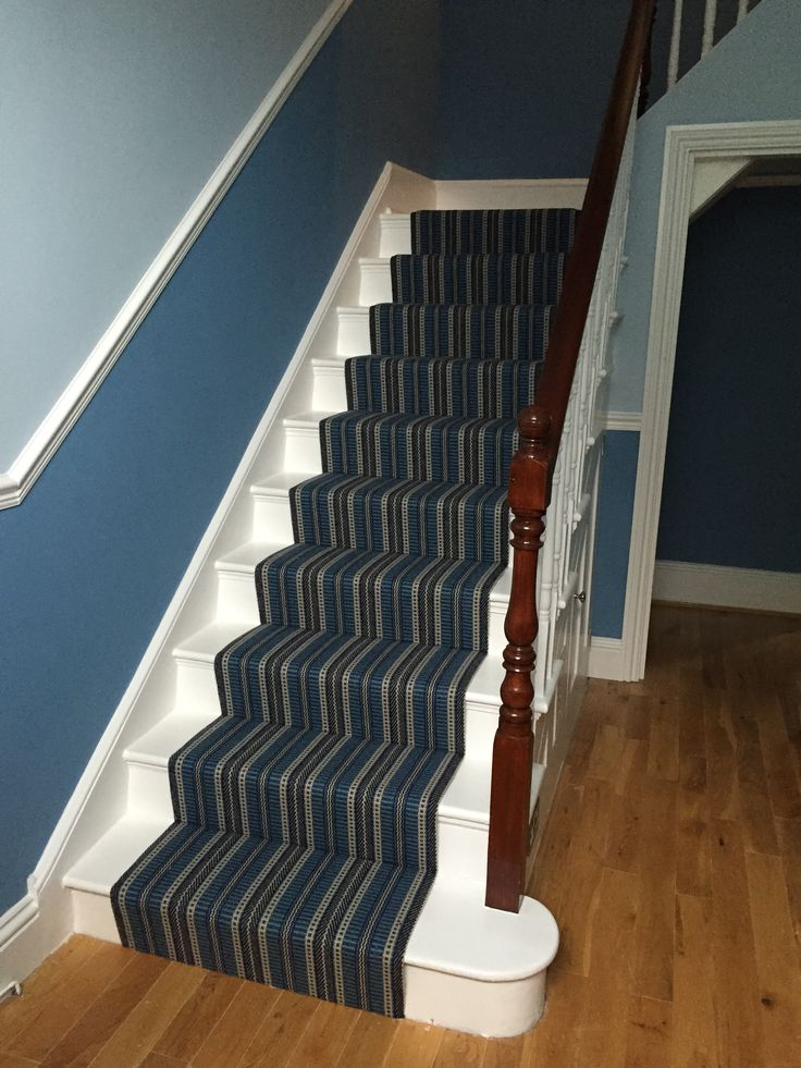 Stairs complete with our Roger Oates Stair runner installed rods to come!