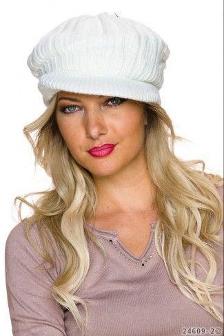 Πλεκτό καπέλο με μικρό γείσο - Ζαχαρί