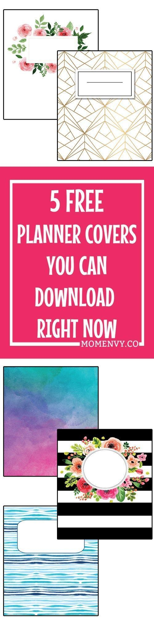 Free Family Binder and Planner Covers. Completely customizable. Download 5 free planner covers in: A5, Happy Planner Classic, and Letter Size. 5 different designs ready to download and print for free. Free Happy Planner accessories, free planner accessories, free family binder cover and printables.