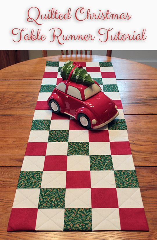 One of this week's Featured Favorites at the Tuesday PIN-spiration Link Party: Quilted Christmas Table Runner Tutorial. Get the instructions right here: