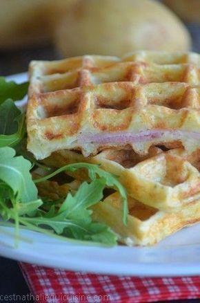Gaufres de pomme de terre jambon fromage - Le blog de C'est Nathalie qui cuisine